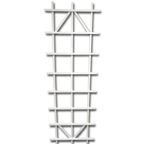 72 in white wood ladder trellis 26210 the home depot