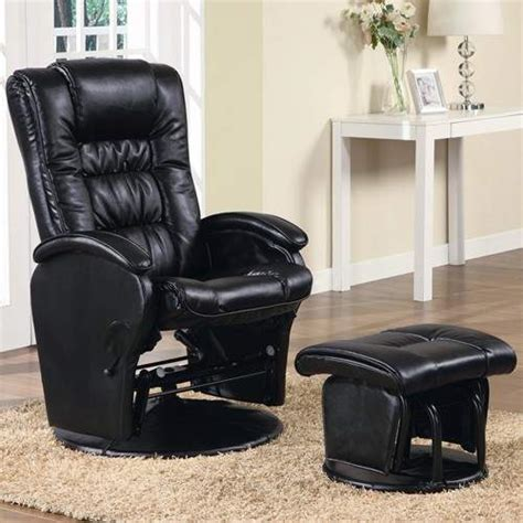 Leather Recliner Chair Prices by Recliners With Ottomans Casual Leather Like Glider With