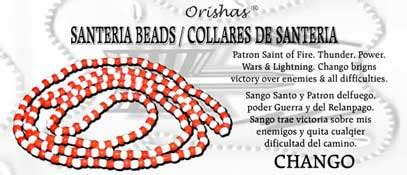 santeria color meanings santeria bead necklace chango and white