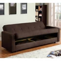 sleeper sofa with storage furniture of america cozy microfiber sleeper sofa bed with