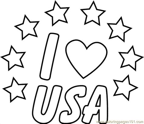 printable coloring page usa the amazing in addition to lovely i love usa coloring