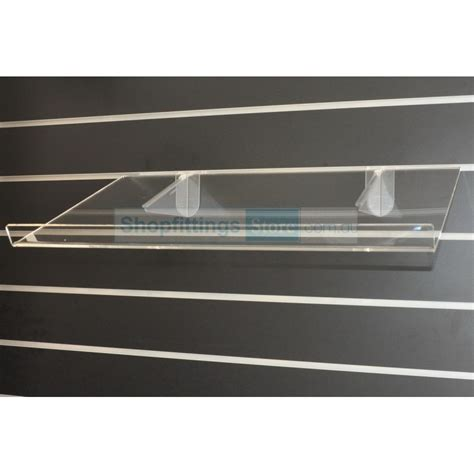 Shelf With Lip by Shelf Sloping 25 Degrees With Lip
