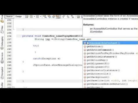 java netbeans sqlite tutorial java prog 10 display jtextfield when select item in