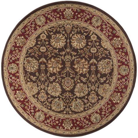 tayse rugs elegance brown 5 ft 3 in x 5 ft 3 in