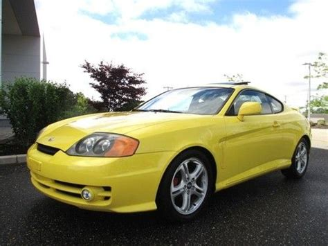 how does cars work 2004 hyundai tiburon electronic valve timing buy used 2004 hyundai tiburon gt v6 special edition yellow rare find in bohemia new york