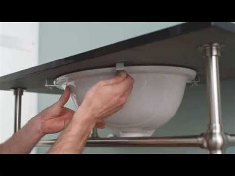 how to install an undermount bathroom sink pretentious idea installing undermount bathroom sink how to install an youtube