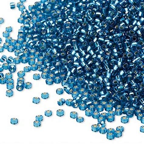 how many seed per gram seed bead miyuki glass silver lined translucent blue