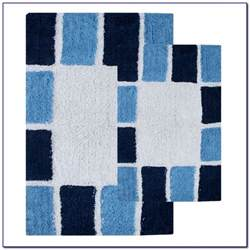 blue bathroom rugs