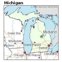 where is midland on the map best places to live in midland michigan