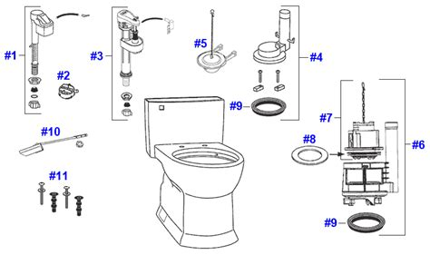 Toto Plumbing Parts by Toto Soiree Toilet Replacement Parts