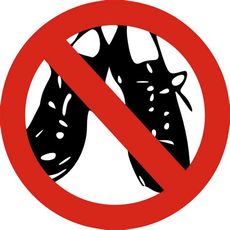 No Shoes Clipart no shoes allowed clip at clker vector clip royalty free domain
