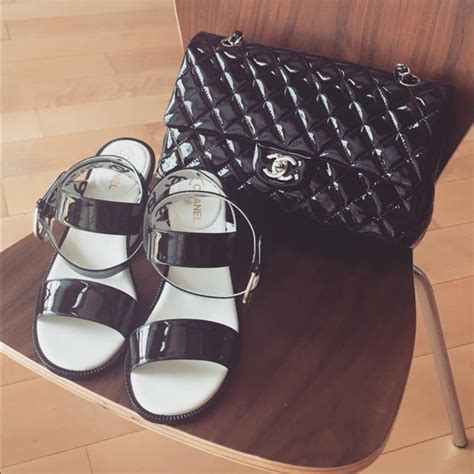 53 chanel shoes chanel black and white sandal from