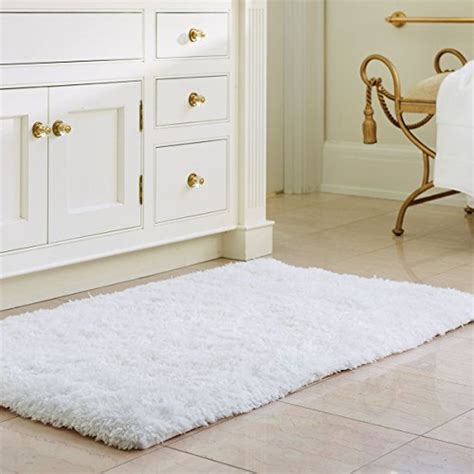 white fluffy bathroom rugs norcho soft microfiber non slip antibacterial rubber luxury bath mat rug 31 quot x19 quot white