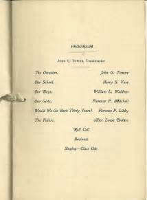 class reunion program template heirlooms reunited 1924 reunion program bklt of class of