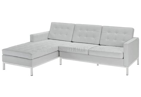 loft sectional loft sectional sofa in white leather by modway