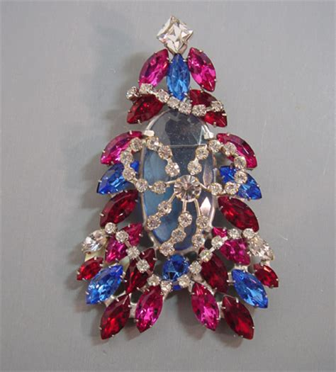 john catalano christmas tree brooch morning glory jewelry
