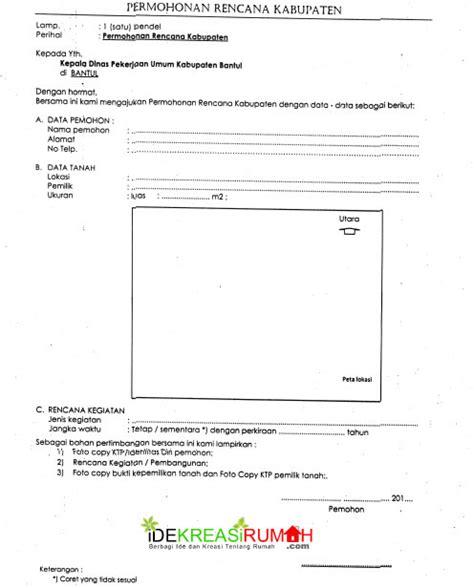 contoh form permohonan izin mendirikan bangunan imb