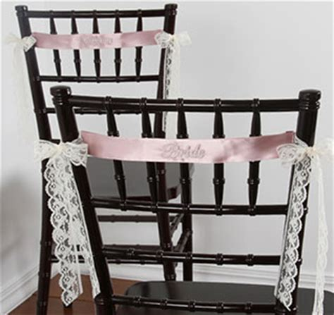 unique chair sash ties chair sashes chair banners