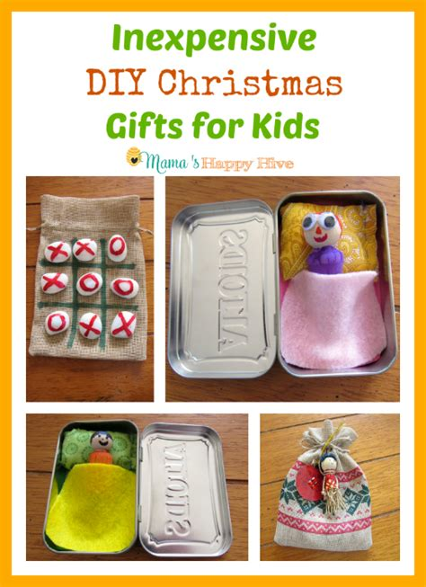 inexpensive diy christmas gifts for kids happy hive