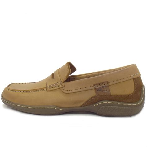 in loafers camel active carlton mens casual brown leather loafer