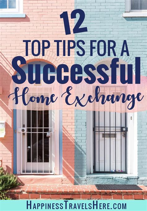 12 top tips to make your home exchange a success