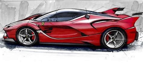 supercar drawing spectacular ferrari fxx k how was design look like video