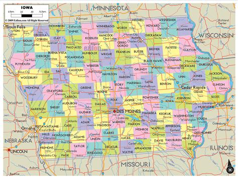 iowa maps iowa map travelsfinders