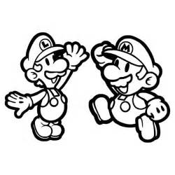 mario and luigi high five in mario brothers coloring page