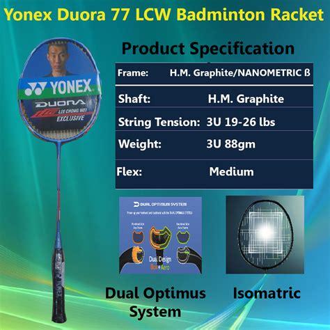 Raket Yonex Duora 77 Lcw yonex duora series of badminton rakcets 2016 khelmart