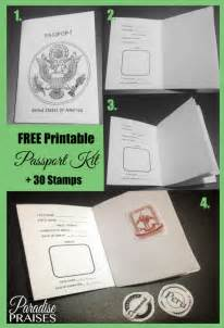 passport template for printable free printable passport activity