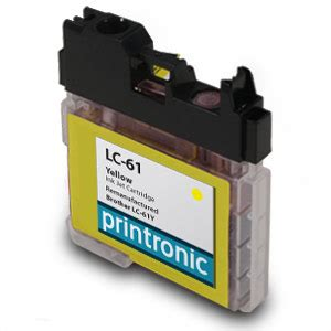 brother dcp j125 yellow ink cartridge 325 pages compatible brother lc 61y yellow ink cartridge