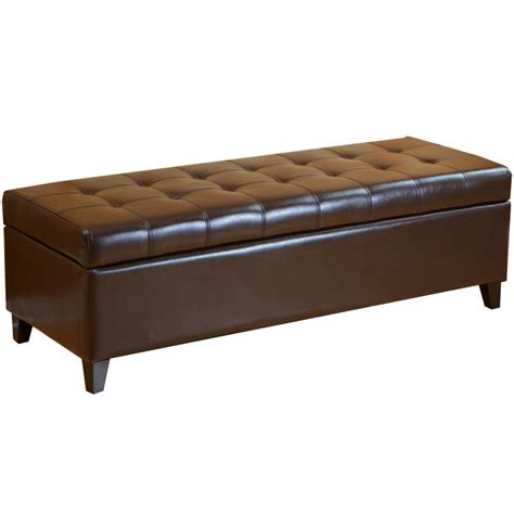 5 Best Tufted Ottoman Keeping Your Room Looking Tidy Brown Leather Ottoman Storage