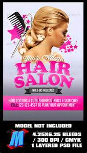hair salon flyer template by megakidgfx graphicriver
