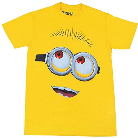 Minion Big minion big yellow t shirt despicable me