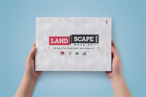 landscape book mock up set pune design