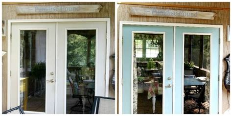 Painting Patio Doors by Patio Door Makeover With Paint Outside Stuff