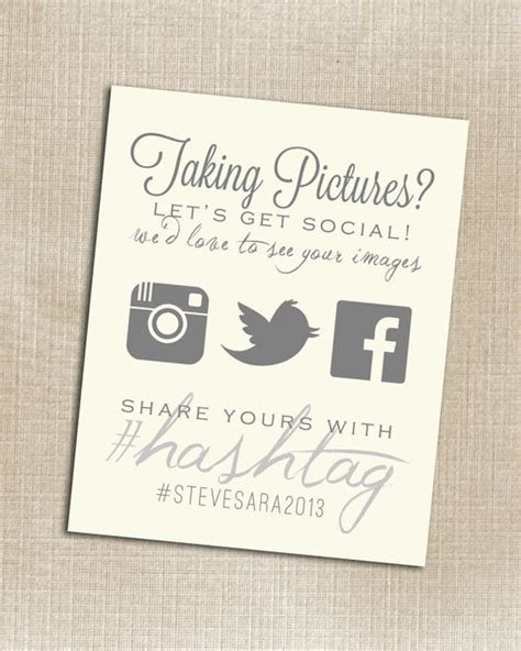 Wedding Hashtag Cards by 15 Wedding Table Card Ideas For Every Weddingmix