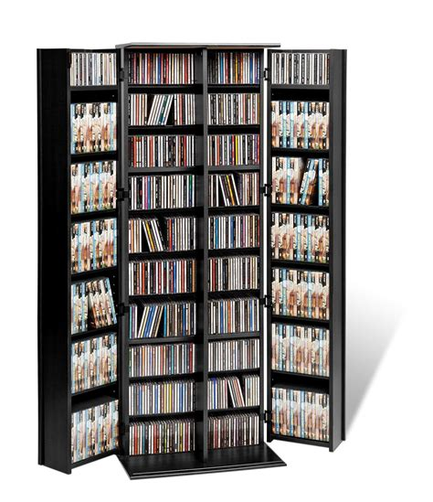 Dvd Storage | prepac black grande locking multimedia storage cabinet