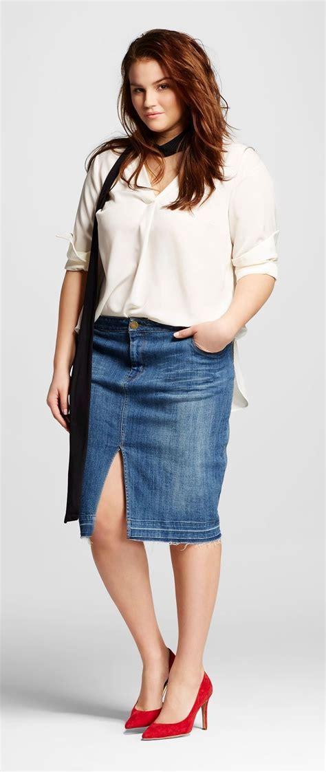 size denim pencil skirt   wear  target