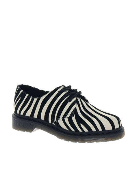 zebra print shoes for dr martens dr martens zebra print lace up shoes in animal