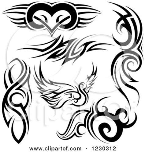 tribal swan tattoo designs royalty free rf clipart illustrations