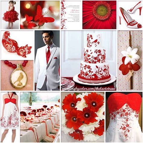 colour themes with red red and white wedding color scheme inspiration board