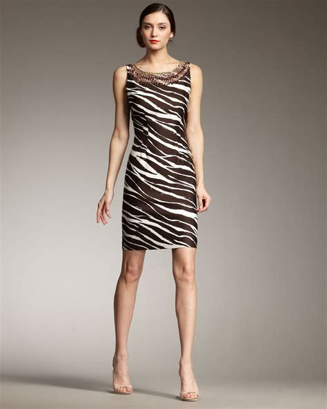 Zebra Dress 445 kate spade sz 2 joselle zebra animal print beaded