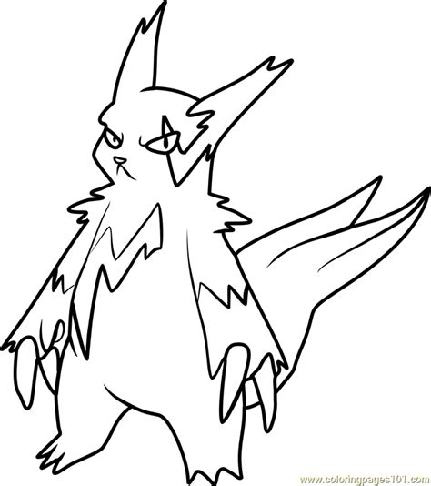 pokemon coloring pages hoenn zangoose pokemon coloring page free pok 233 mon coloring
