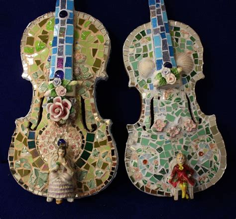 mosaic violin pattern mosaic violins by lynette thomas images frompo