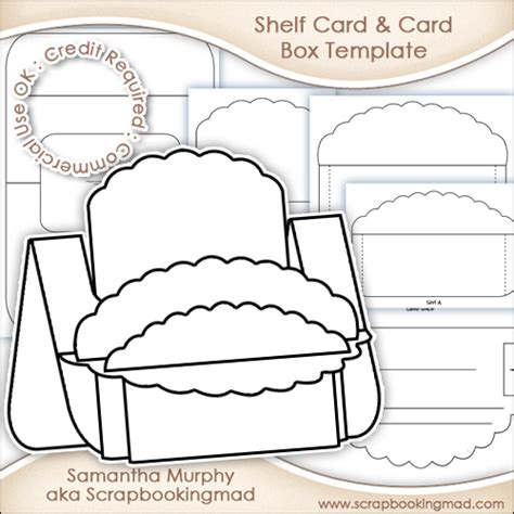user made card templates large shelf card card box template commercial use ok 163