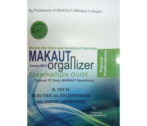 Makaut Mba 3rd Sem Syllabus by Makaut Wbut Organizer Electrical Engineering 3rd Year