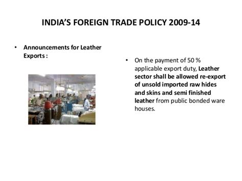 Mba In International Policy by India S Foreign Trade Policy 2009 13 By Jayant Nannore Mba Bf