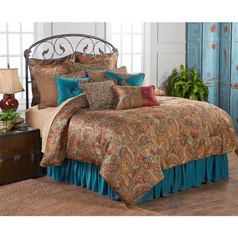 teal bedding twin san angelo comforter set with teal bedskirt twin