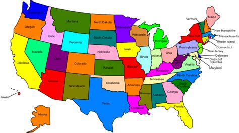 give me a map of the united states western united states clipart